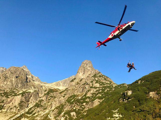Wypadek turystów z Polski w słowackich Tatrach. 12 godzin akcji ratunkowej