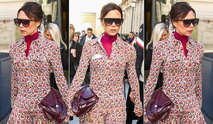 LOOK OF THE DAY: Victoria Beckham pokazuje, jak nosić letnią sukienkę zimą
