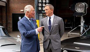 """Książę Karol i Daniel Craig na planie """"Bonda"""""""