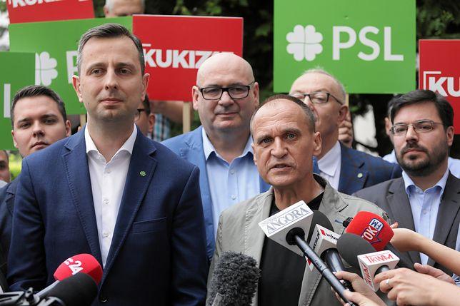 Lider PSL Władysław Kosiniak-Kamysz i Paweł Kukiz