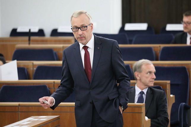 Bogdan Zdrojewski (senator PO) ogłosił swój start na przewodniczącego partii (w tle Bogdan Klich)
