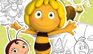 Pszczółka Maja. Koloruj i naklejaj