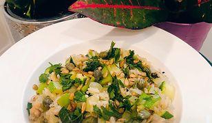 Ryż z zielonymi warzywami i pietruszką