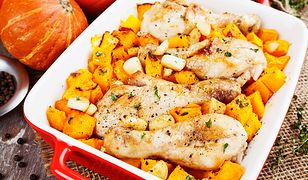 Udka z kurczaka zapiekane z dynią. Pyszny pomysł na obiad