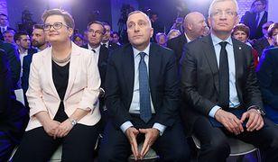 Przewodnicząca Nowoczesnej Katarzyna Lubnauer, przewodniczący PO Grzegorz Schetyna i prezydent Poznania Jacek Jaśkowiak