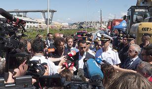 Wicepremier Luigi Di Maio przyjechał na miejsce katastrofy