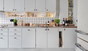 Płaszczyzna blatów powinna wystawać poza obrys szafek stojących, aby łatwo było z nich zebrać np. okruszki pieczywa.