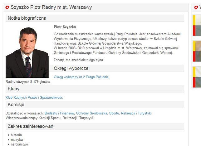 Piotr Szyszko, bratanek ministra, kierownikiem w Nadleśnictwie Jabłonna