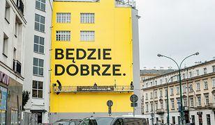 Jeden z murali w Warszawie, który stworzyli artyści z Good Looking Studio