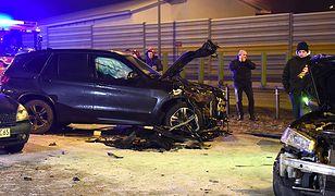 Samochody rozbite w karambolu koło Torunia.