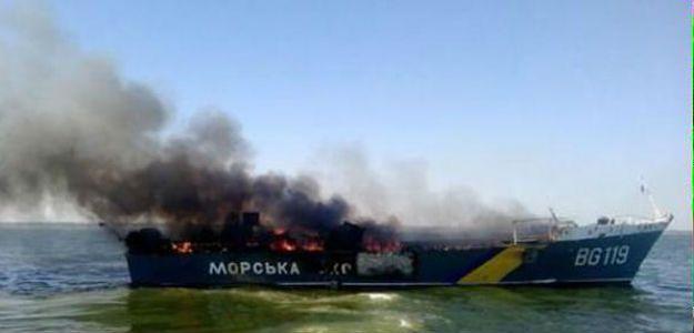 W wyniku eksplozji kuter został poważnie uszkodzony i zatonął