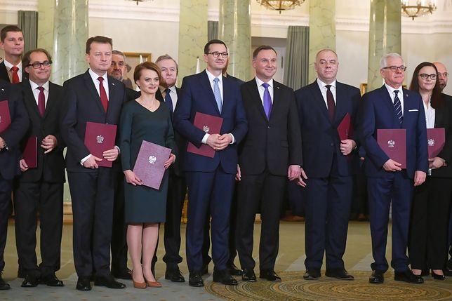 Rząd Mateusza Morawieckiego po zaprzysiężeniu w Pałacu Prezydenckim
