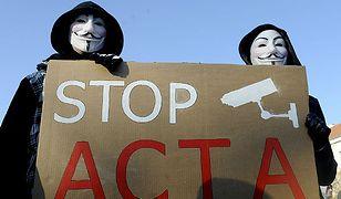 Protest przeciwko wprowadzeniu umowy ACTA