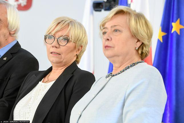 Julia Przyłębska i Małgorzata Gersdorf