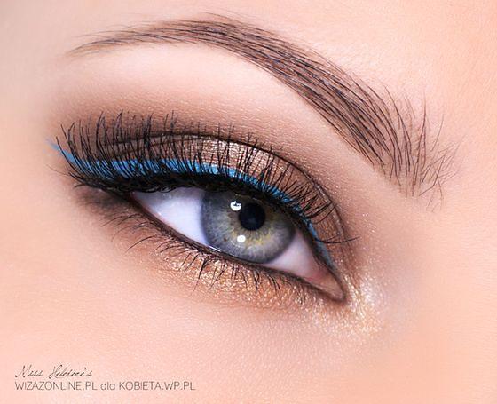 Wiosenny delikatny makijaż oka