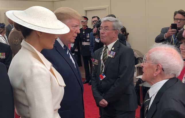 Melania Trump i jej mąż Donald Trump spotkali się z weteranami wojennymi