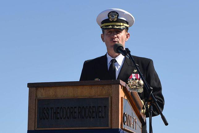Koronawirus na świecie. Dowódca amerykańskiego lotniskowca USS Theodore Roosevelt zakażony