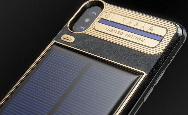 iPhone X z panelem słonecznym wygląda naprawdę imponująco