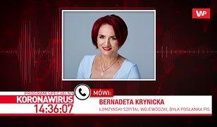"""Koronawirus w Polsce. Bernadeta Krynicka podtrzymuje krytyczną opinię: """"szpital jest nieprzygotowany"""""""