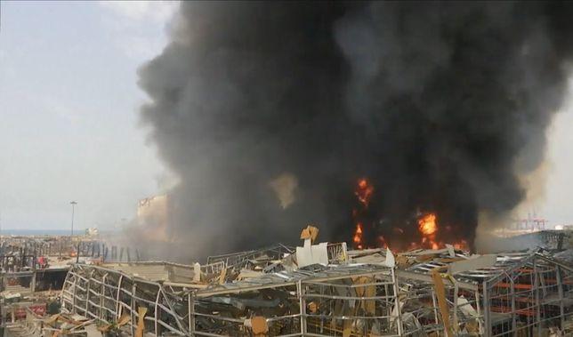 Bejrut: Pożar w porcie