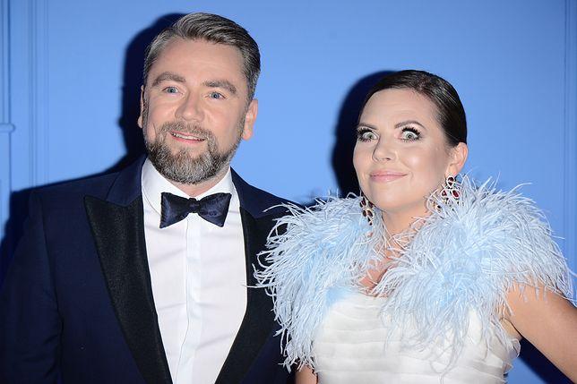 Kuba Badach z żoną Aleksandrą Kwaśniewską