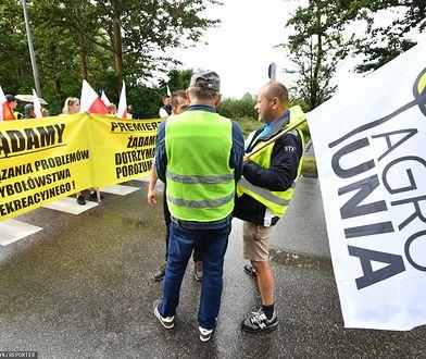 Władysławowo. Protest rolników i rybaków zakończony przed czasem