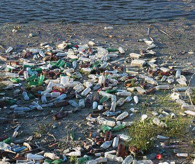 Śmieci nad rzeką (zdjęcie ilustracyjne)