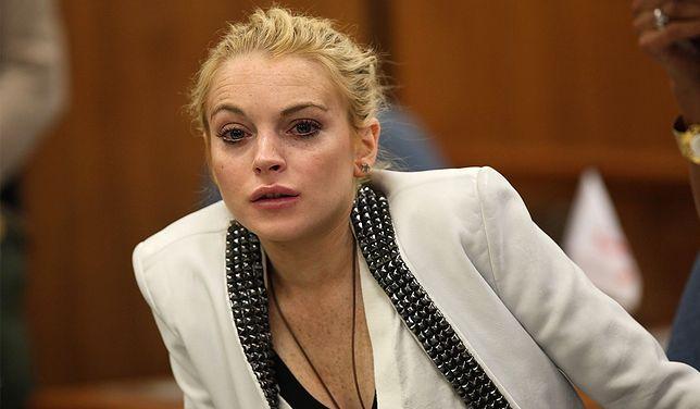 Lindsay Lohan podczas rozprawy sądowej nie wyglądała dobrze.