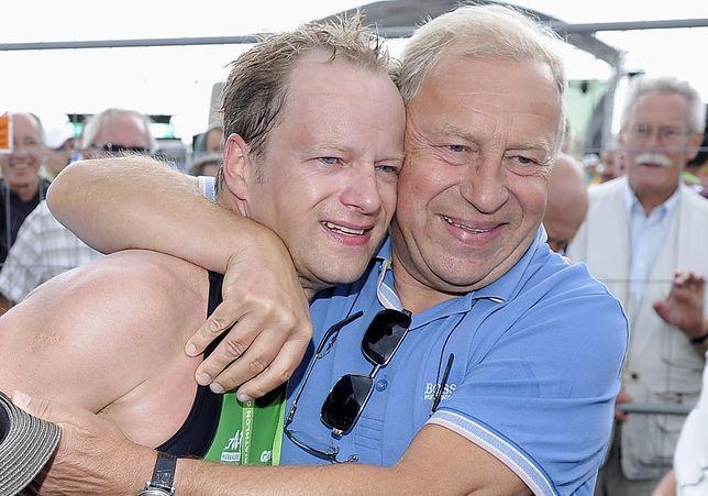 Maciej Stuhr z ojcem Jerzym w 2013 r.