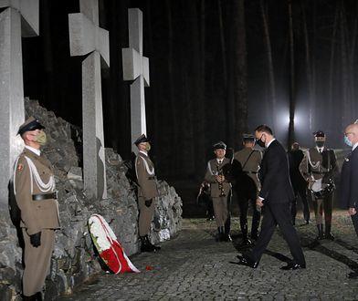 Ukraina. Bykownia. Andrzej Duda złożył wieniec i wygłosił przemówienie