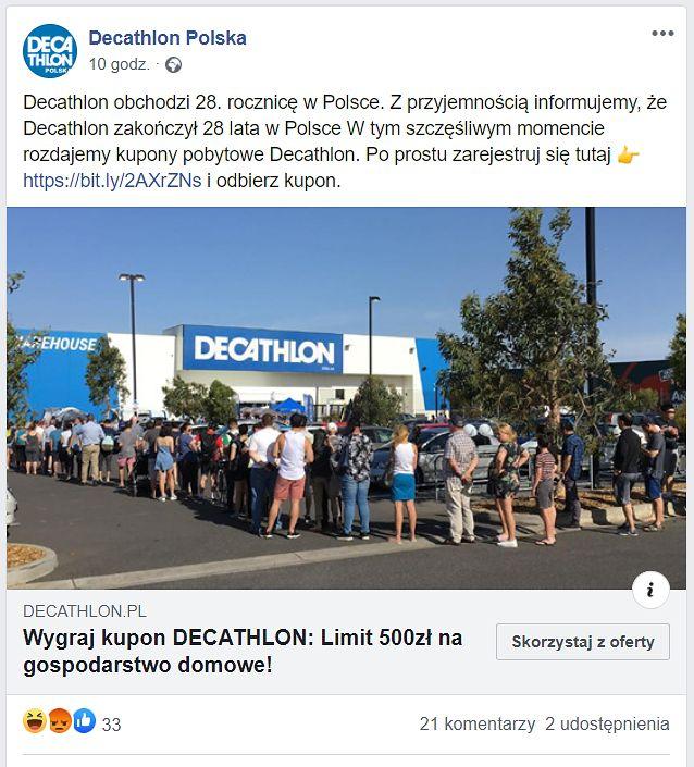 Fałszywy post na Facebooku jest sponsorowany – ma dotrzeć do jak największej liczby osób, fot. Oskar Ziomek.