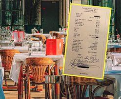 Kelnerka spojrzała na rachunek i zaniemówiła. Natychmiast podeszła do klienta