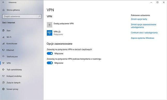 Większe bezpieczeństwo w Windows 10 – jeden ze sposobów to korzystanie z połączeń VPN.
