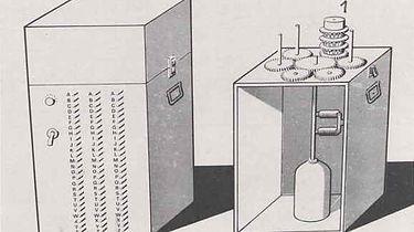 Kryptologia XX wieku — Enigma — okres siewu, żniw i suszy - Uproszczony schemat bomby Rejewskiego