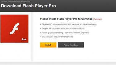 Uwaga na Flash Player Pro