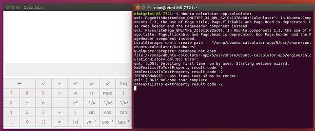 Snapowy Kalkulator uruchomiony z konsoli. Lepszy jest niż ten z GNOME