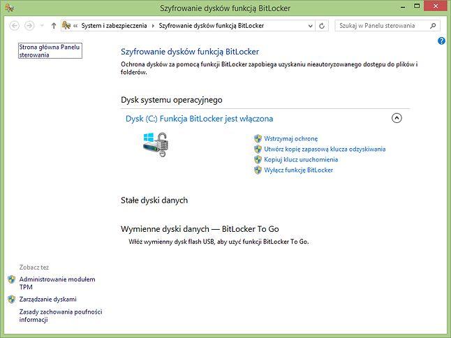 eDrive integruje się z mechanizmem szyfrowania BitLocker