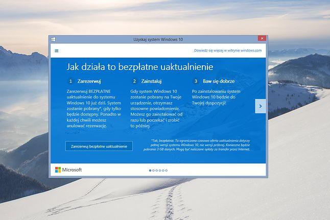 Microsoft reklamuje Windows 10 na wszystkie sposoby
