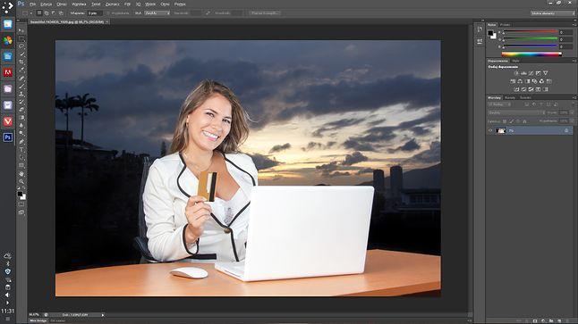 Photoshop śmiga na linuksowym pulpicie