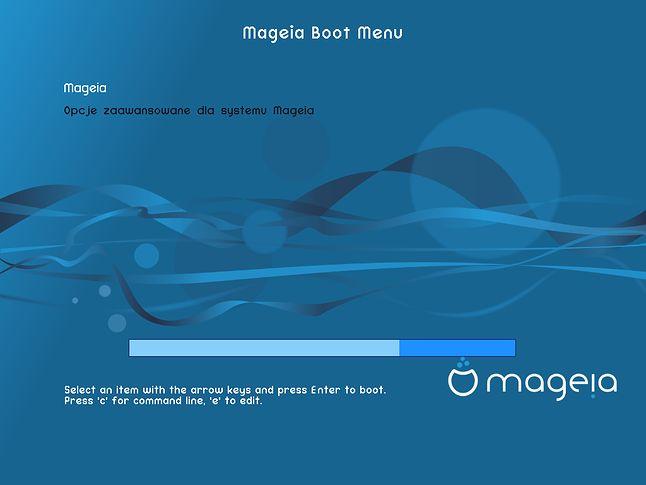 Skórka menu rozruchowego Magei 6: wzornictwo spójne od samego początku