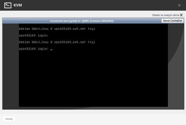 Połączenie z konsoląserwera bezpośrednio w przeglądarce