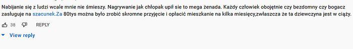 Komentarze pod filmem na YouTube