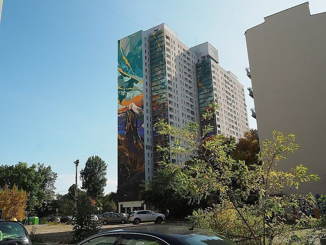 Mural z Wiedźminem