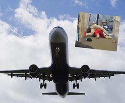 Opóźniły lot o 40 minut. Dwie kobiety turlały się po podłodze