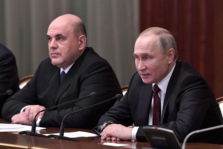 Premier Rosji Michaił Miszustin i prezydent Władimir Putin