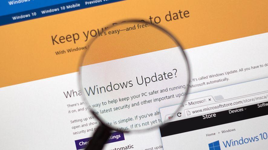 Witryna Microsoft Update z depositphotos