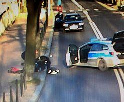 Nagranie z Gliwic. Kamery monitoringu nagrały policjantów