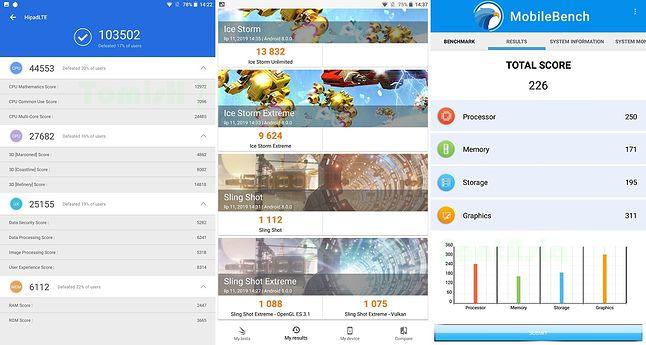 AnTuTu - 3DMark - MobileBench