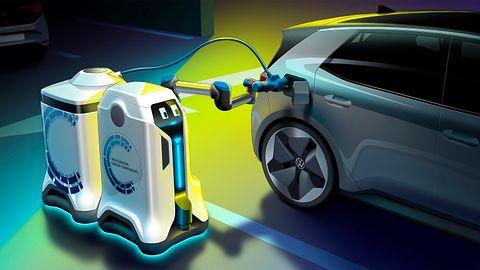 Robot naładuje samochód elektryczny: Ciekawy projekt Volkswagena