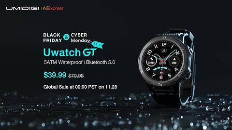 Najnowszy smartwatch marki UMIDIGI, Uwatch GT w obniżonej cenie 39,99$